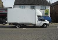 large luton van and man